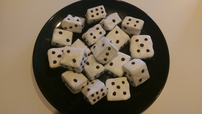 Roll for initiative! Rich, creamy Dice Fudge for your next Game Night.