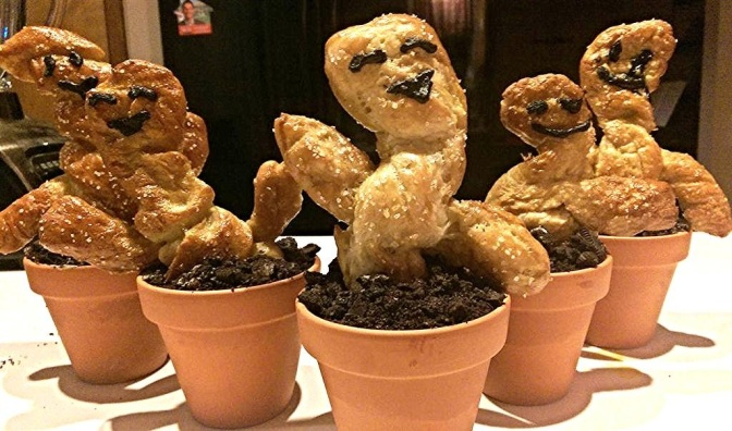 Groot Pretzel Pots, Because Arbor Day.