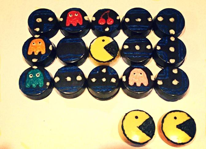 Chocolate Covered Pac-Man Oreos