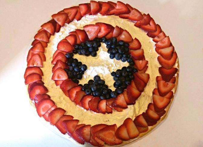 Captain America Fruit Pizza