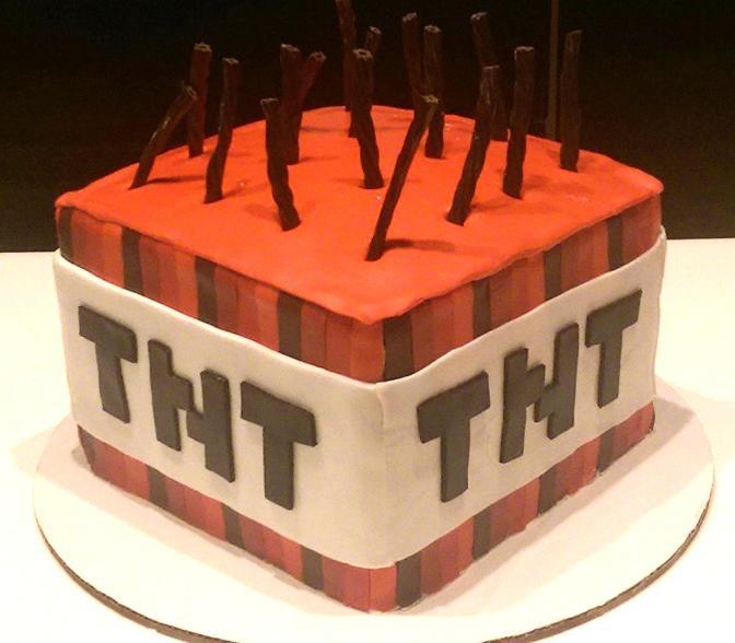 Minecraft TNT Cake pt. 2