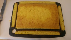 Yellow cake trimmed. Good enough for government work.