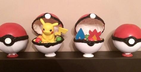 Pokeball Candy, Pikachu Amiibo, Pokemon Gym Badges