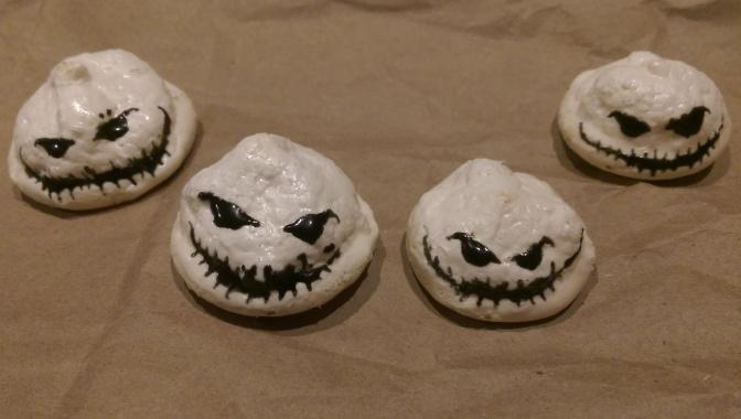Oogie Boogie Meringue Cookies