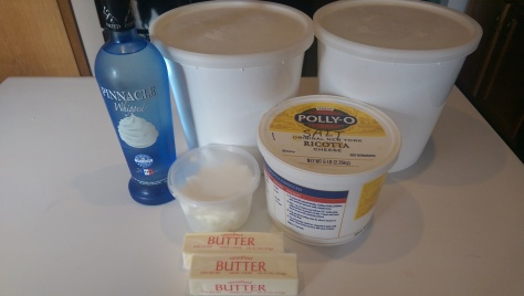 Pie crust ingredients, minus the water.
