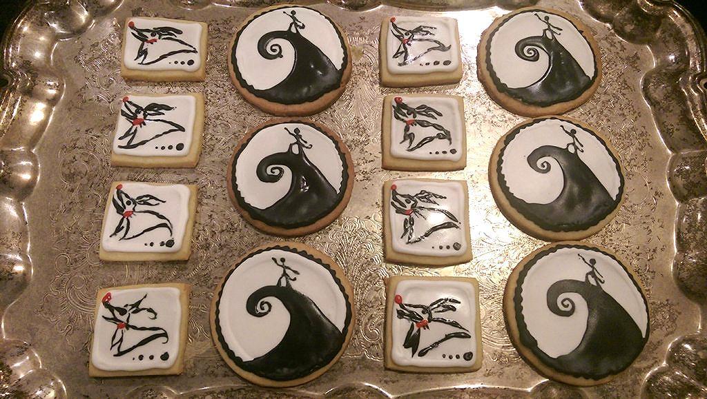 Nightmare Before Christmas Sugar Cookies | Skill Up Skillet