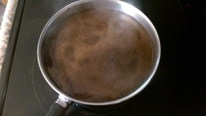 Remove from heat quickly, the boil is just going to rise.