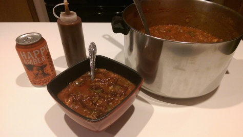 Beer. Hot sauce. Chili. Done.